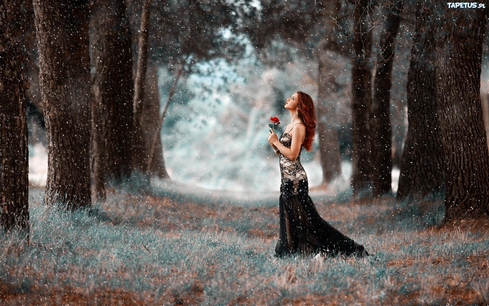 obrazki n 212808 park kobieta roza drzewa