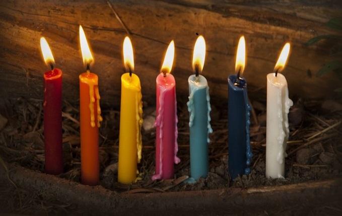 Magia kolorów świec